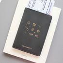 Dark gray - Twinkle RFID blocking passport cover