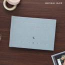 Gray blue - Les beaux jours small scrapbook album
