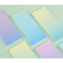 Colorful gradation checklist sticky notes
