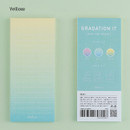 Yellow - Colorful gradation checklist sticky notes