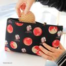 Peach black - Rim somsom large zipper pouch