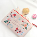 Pink - Rim somsom large zipper pouch