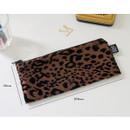 Size of Leopard pattern zipper pencil case