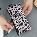 Pink - Leopard pattern zipper pencil case