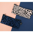 Leopard pattern zipper pencil case