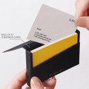 Hold up to 25 business cards