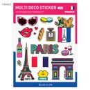 France - Travel multi deco paper sticker