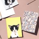 Vivid illustration thread stitching plain notebook