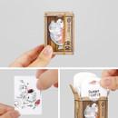 Salmon label paper sticker set