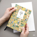 Bird - Pattern classic hardcover plain notebook