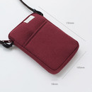 Size of A low hill basic standard pocket crossbody bag
