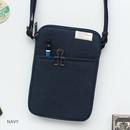 Navy - A low hill basic standard pocket crossbody bag