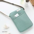 Dim mint - A low hill basic standard pocket crossbody bag