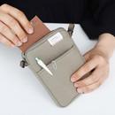 Dark beige - A low hill basic standard pocket crossbody bag