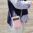 Indi pink - A low hill basic standard pocket crossbody bag