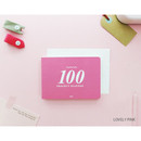 Lovely pink - 100 day project planner