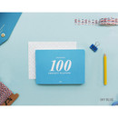 Sky blue - 100 day project planner