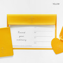 Yellow - Aire A5 size voucher flat pouch
