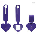 Violet - Aire delce heart luggage name tag