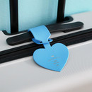Cyan blue - Aire delce heart luggage name tag