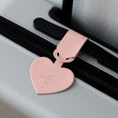 Indi pink - Aire delce heart luggage name tag