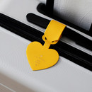 Yellow - Aire delce heart luggage name tag