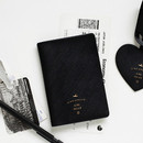 Black - Aire delce RFID blocking passport cover