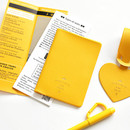 Yellow - Aire delce RFID blocking passport cover