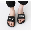 Black - Brunch brother PVC slide sandal