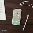 Garden - Flower pattern clear TPU iPhone 7 soft case