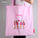 Lazy holiday eco tote bag
