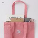 Cat - Tailorbird animal space shoulder tote bag