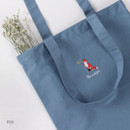 Fox - Tailorbird animal space shoulder tote bag