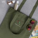 Parrot - Tailorbird animal space shoulder tote bag
