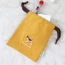 Dog - Tailorbird animal small drawstring pouch