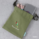 Parrot - Tailorbird animal small drawstring pouch