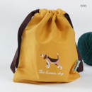 Dog - Tailorbird animal small drawstring pouch