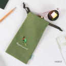 Parrot - Tailorbird animal long drawstring pouch