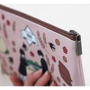 Detail of Boy and Girl cartoon zipper pouch