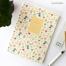 Yellow donkey - Willow pattern lined notebook