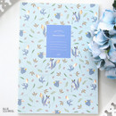 Blue squirrel - Willow pattern lined notebook