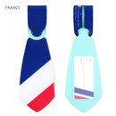 France - Flag tie travel luggage name tag