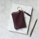 Burgundy - The Classic leather card wallet
