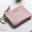 Indi pink - The Classic leather card wallet