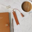 Brown - The Classic leather bookmark with Tassel