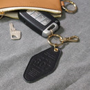 Black - The Classic leather key ring