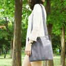 Black - Tropical travel cotton shoulder bag