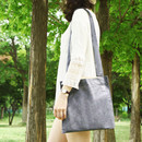 Black - Tropical travel cotton shoulder bag