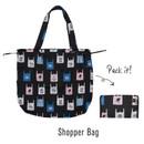 Shopper bag - Tropical travel foldable island shoulder bag