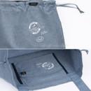 Detail of Tropical travel foldable island denim shoulder bag